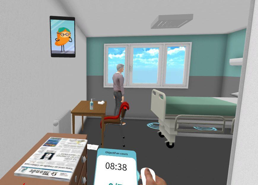 formation réalité virtuelle chambre psychiatrie