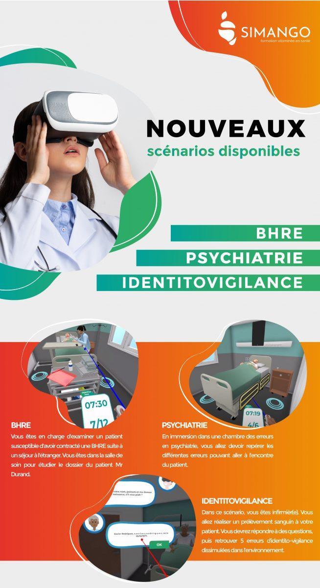 Nouveaux scénarios SIMANGO réalité virtuelle